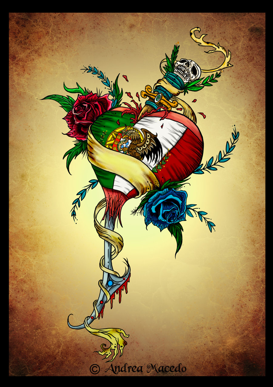 900x1273 Portuguese Mexican Heart Color By Prettygore