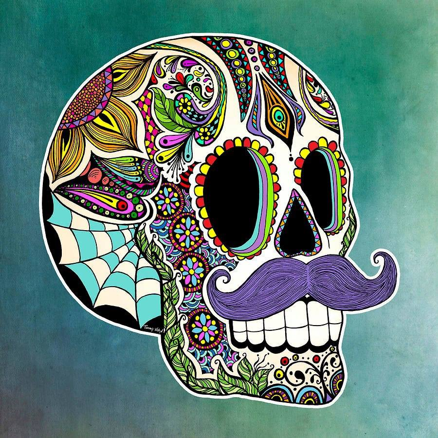 900x900 Sir Skull Sugar Skulls Both Amp Day Of The Dead, Real And By