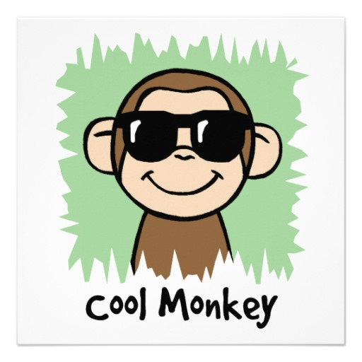 512x512 Cartoon Baby Monkey Cartoon Clip Art Cool Monkey With Sunglasses