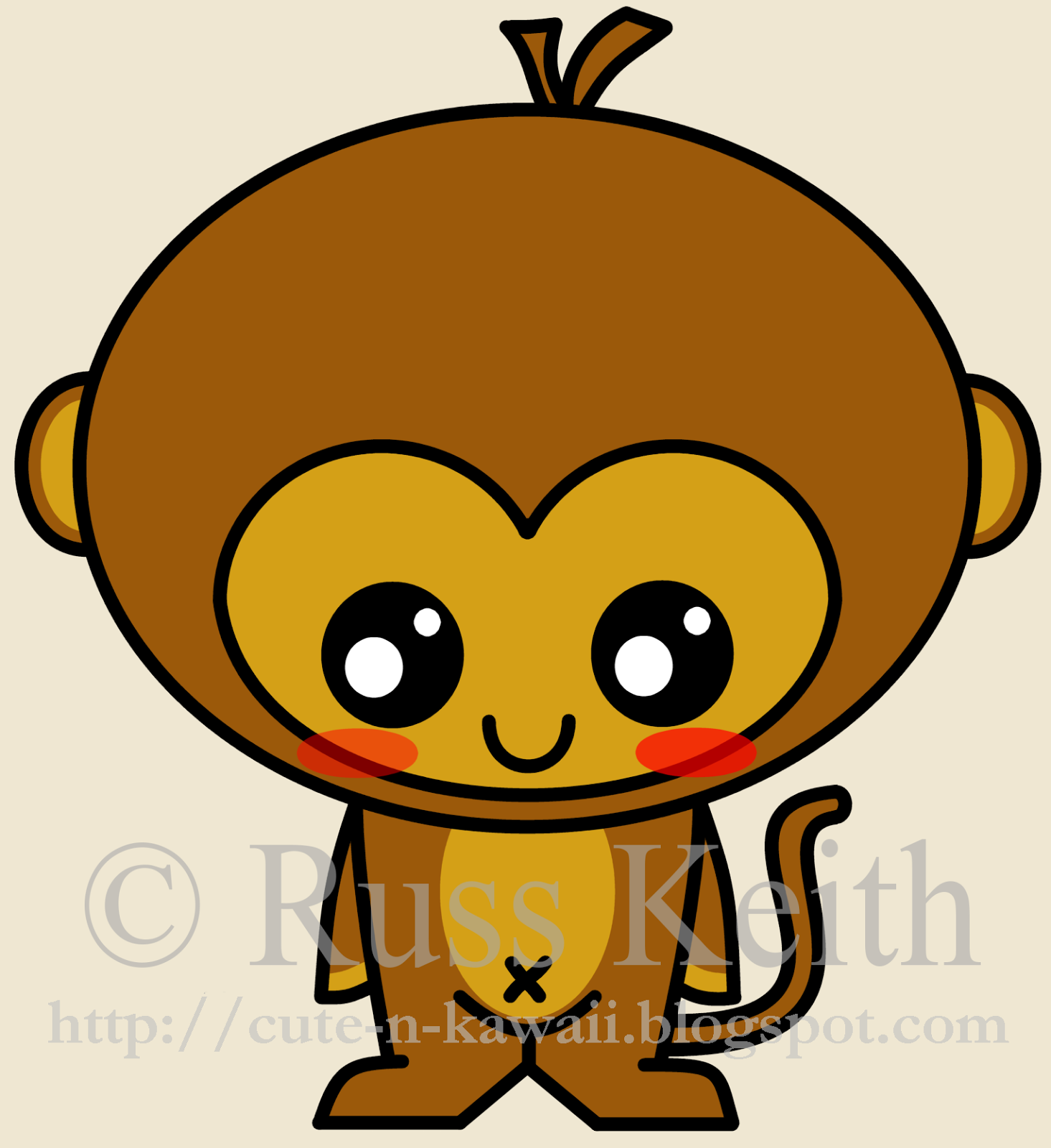 1465x1600 Cute N Kawaii How To Draw A Kawaii Monkey