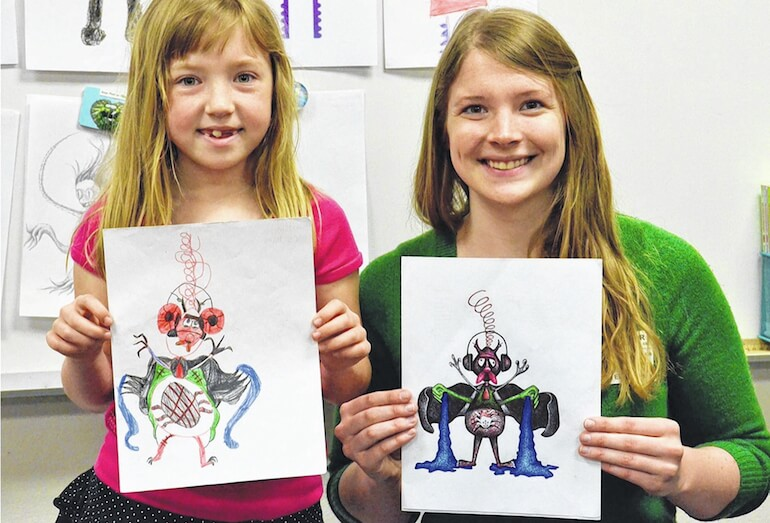 770x523 Artists Creates Cool Monster Drawings Of Elementary School Children