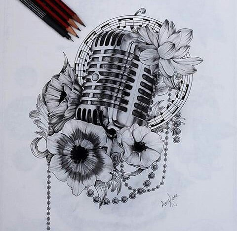 480x468 Cool Music Drawings Collection