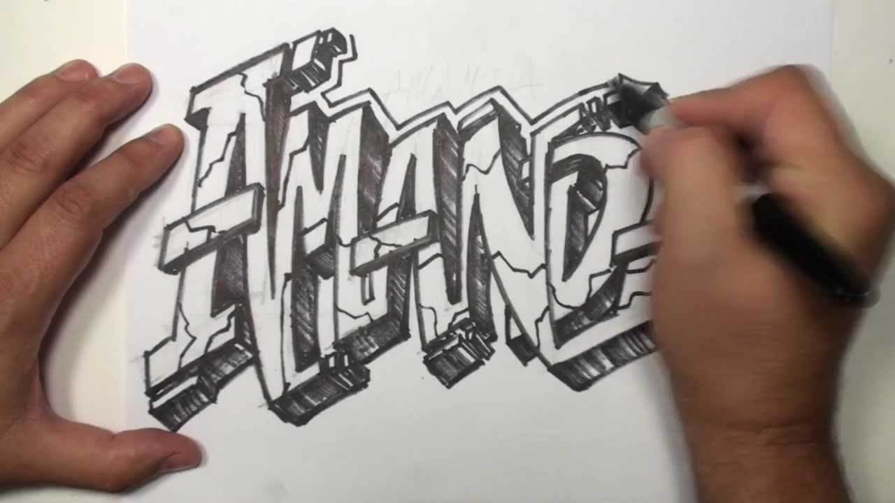 1280x720 Graffiti Speed Drawing Name Art