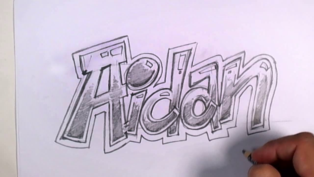 Cool name drawing at getdrawings free for personal use cool 1280x720 graffiti writing aidan name design expocarfo