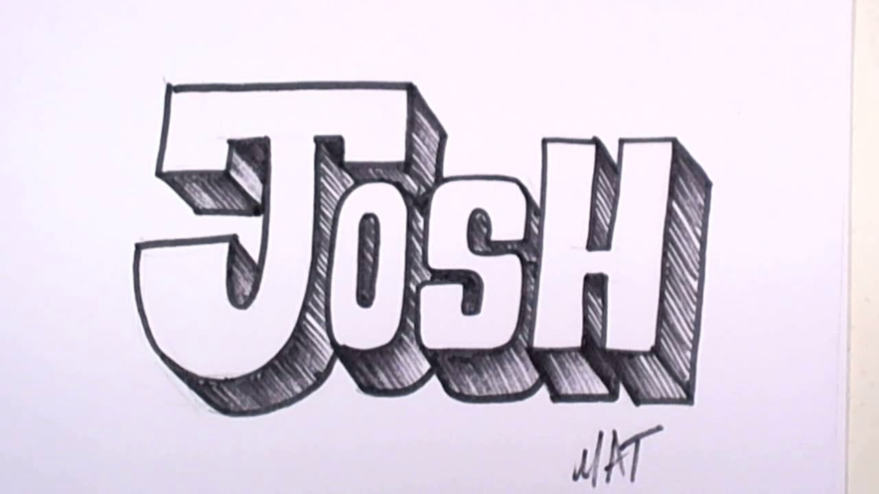 Cool name drawing at getdrawings free for personal use cool 1280x720 graffiti writing josh name design voltagebd Choice Image