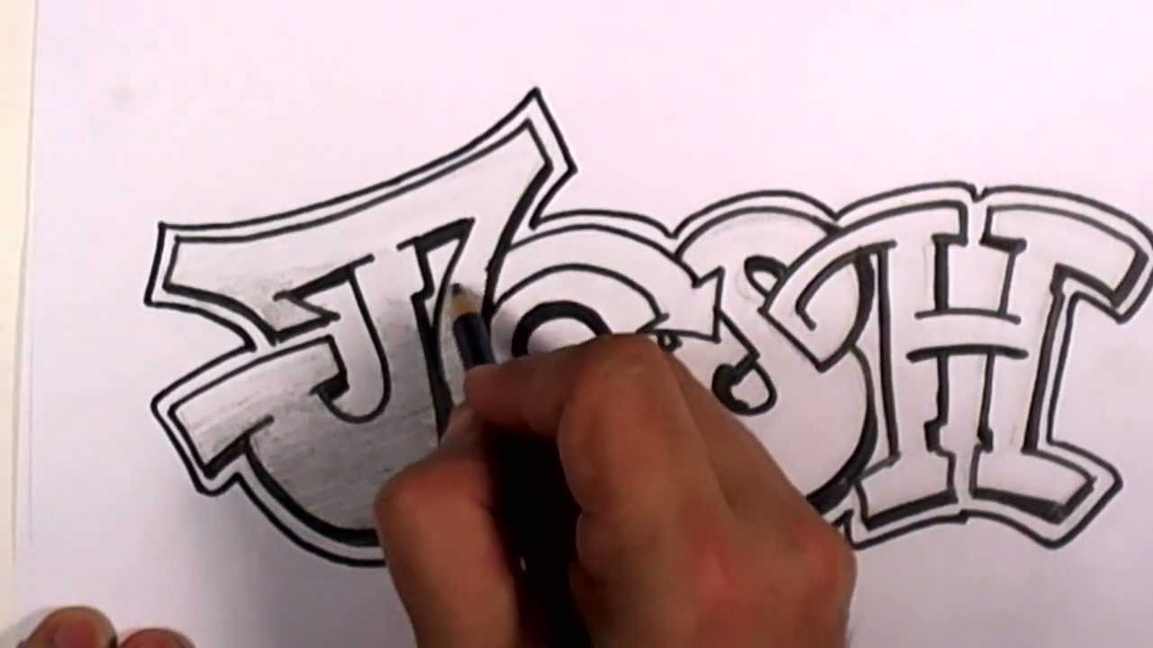 Cool name drawing at getdrawings free for personal use cool 1280x720 graffiti writing josh name design expocarfo