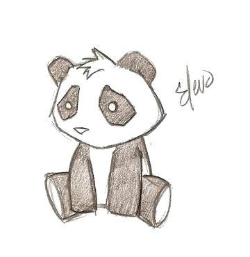 360x370 Easy Pandas To Draw Drawn Panda 5 Cool