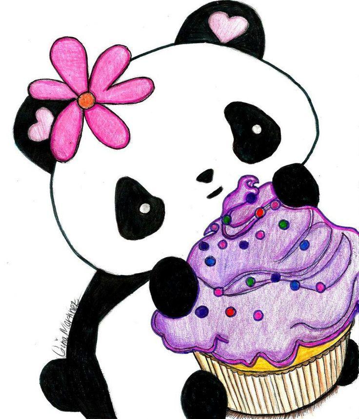 736x859 Panda Drawings Kawaii