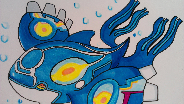3000x1691 Drawing Legendary Pokemon Kyogre, Pokemon Alpha Sapphire