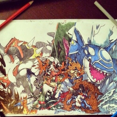 500x500 Not My Drawing, But Cool Drawing For The Upcoming Pokemon Games