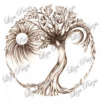 345x350 Tattoo Design Liza Paizis Original Art And Jewelry