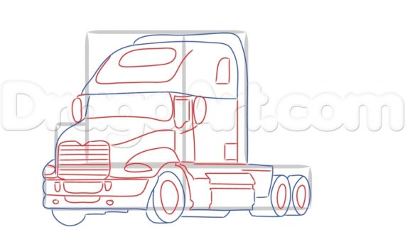 570x320 Drawing Of Trucks Not The Usual But I Thought It Looked Cool