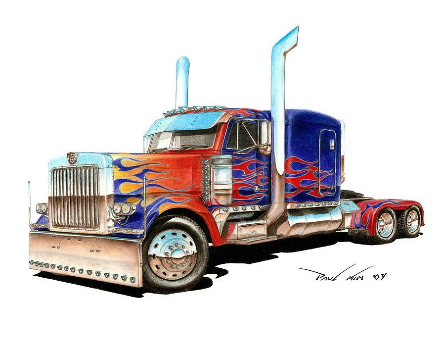900x709 Cool Semi Drawings
