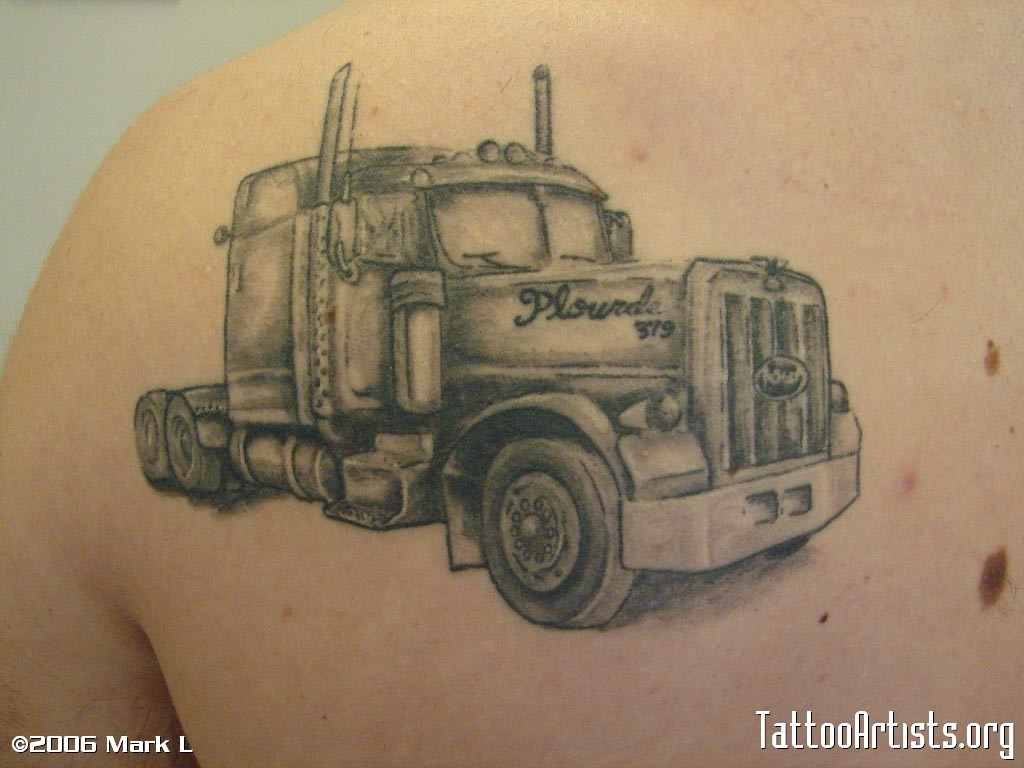 1024x768 Semi Tattoo Skin Deep Truck Tattoo, Tattoos