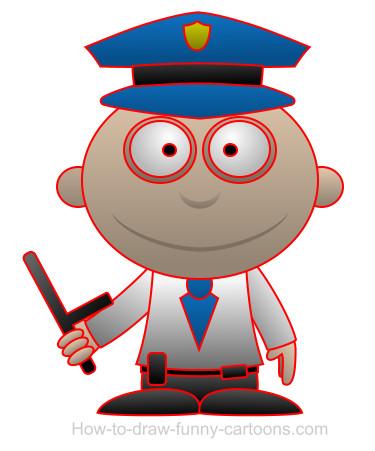 375x451 Drawing A Policeman Cartoon