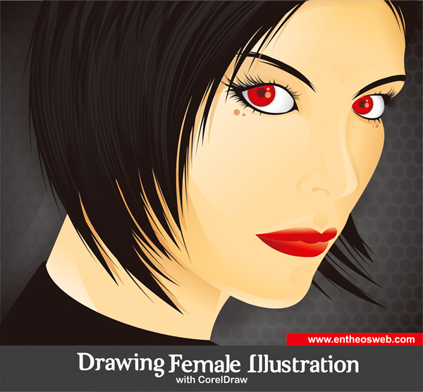 600x556 Drawing A Female Illustration With Corel Draw