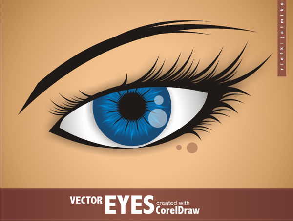 600x454 Vector Eyes With Coreldraw