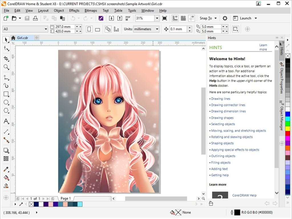 1024x768 Coreldraw Home And Student Suite X8 (Pc) Amazon.co.uk Software