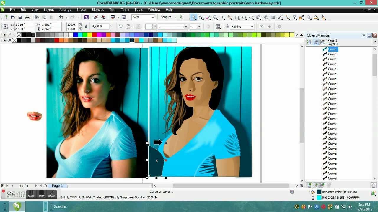 1280x720 Corel Draw X6 Vector Portrait Of Anne Hathaway