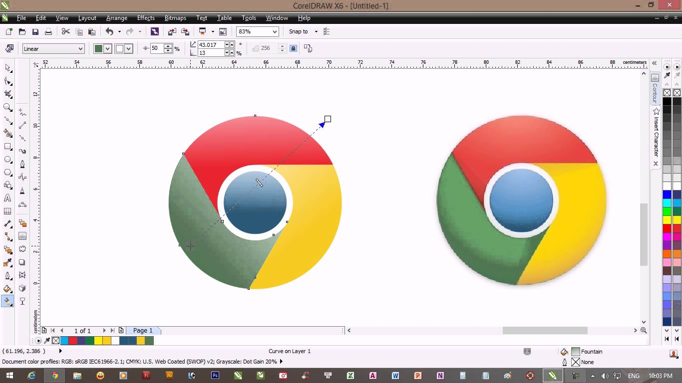 1366x768 Drawing Chrome Logo