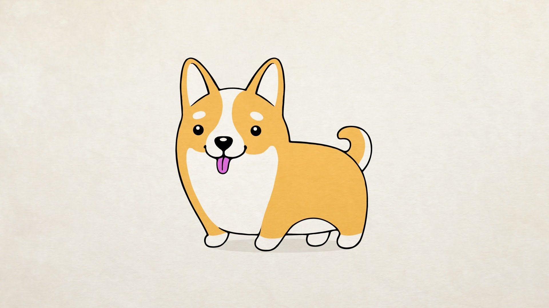 1920x1080 How To Draw] A Cute Dog