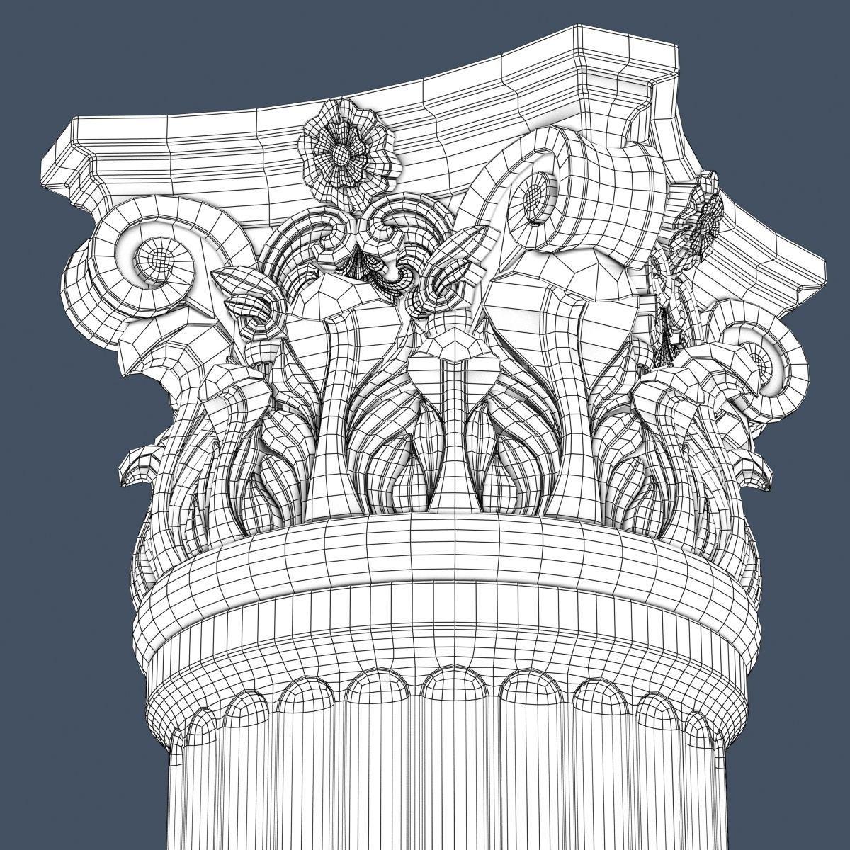 1200x1200 3d model corinthian column 007 cgtrader