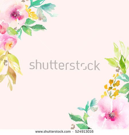 450x470 Download This Cute Round Flower Wreath With Painted Watercolor