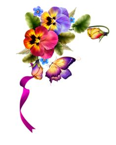 236x295 Pansy Flower Corner Border Clip Art Use These Free Images