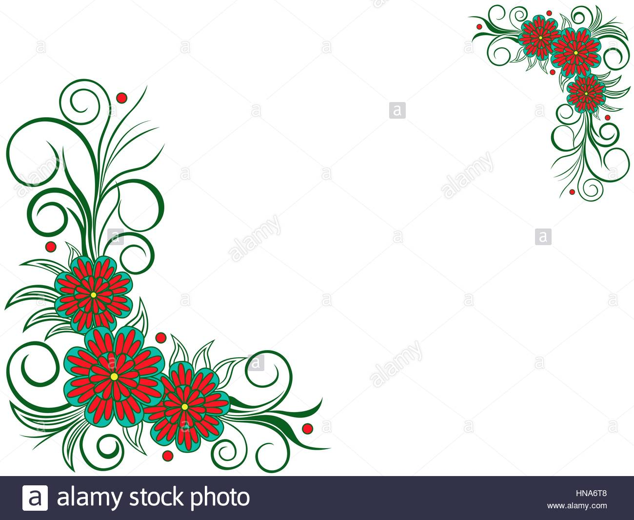1300x1065 Stylized Flower Corner Design Cut Out Stock Images Amp Pictures