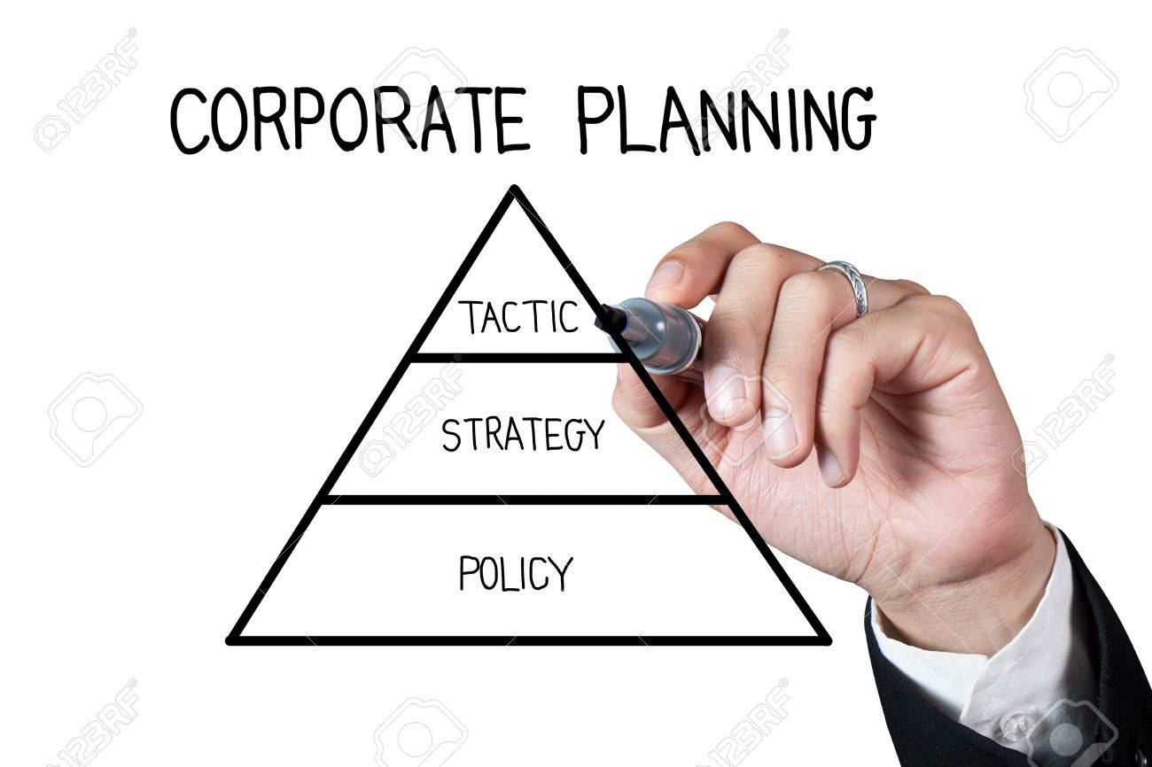 1300x866 Hand Drawing Corporate Planning On Whiteboard Stock Photo, Picture