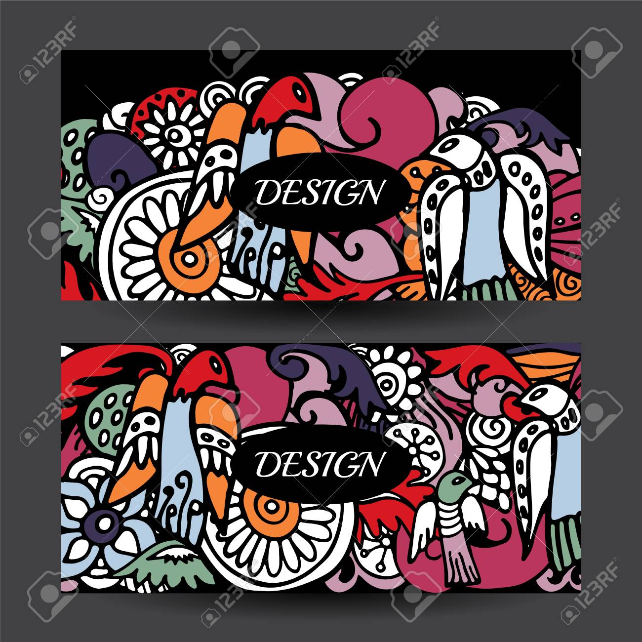 1300x1300 Stock Vector Cartoon Hand Draw Colorful Corporate Identity