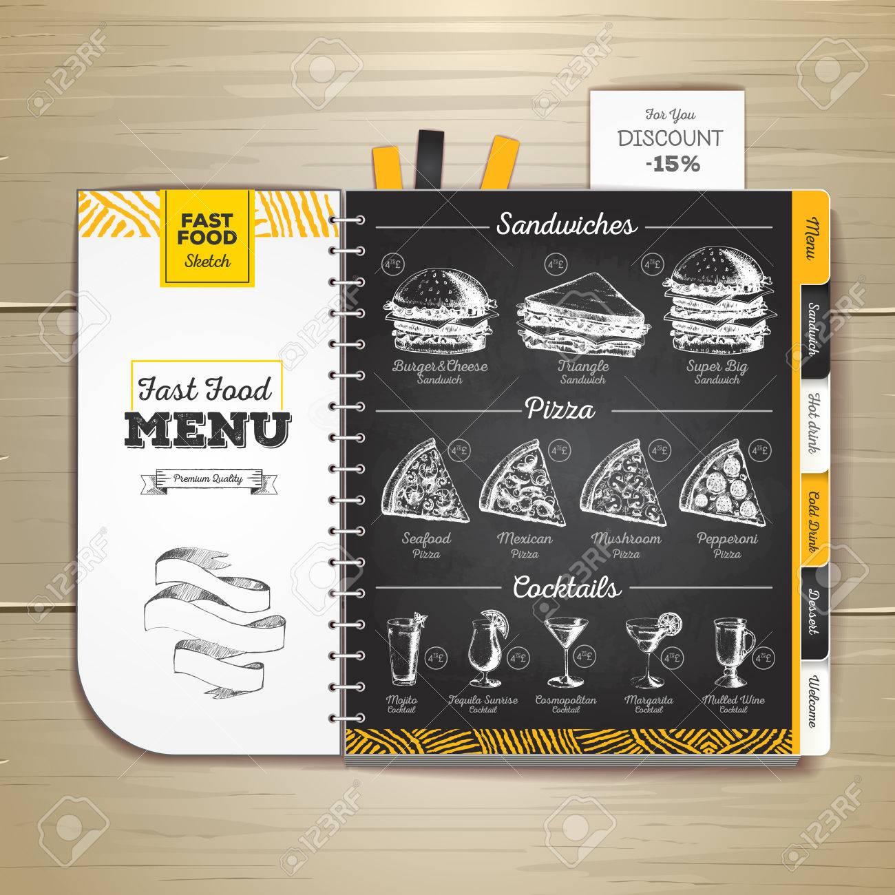 1300x1300 Vintage Chalk Drawing Fast Food Menu. Sandwich Sketch Corporate