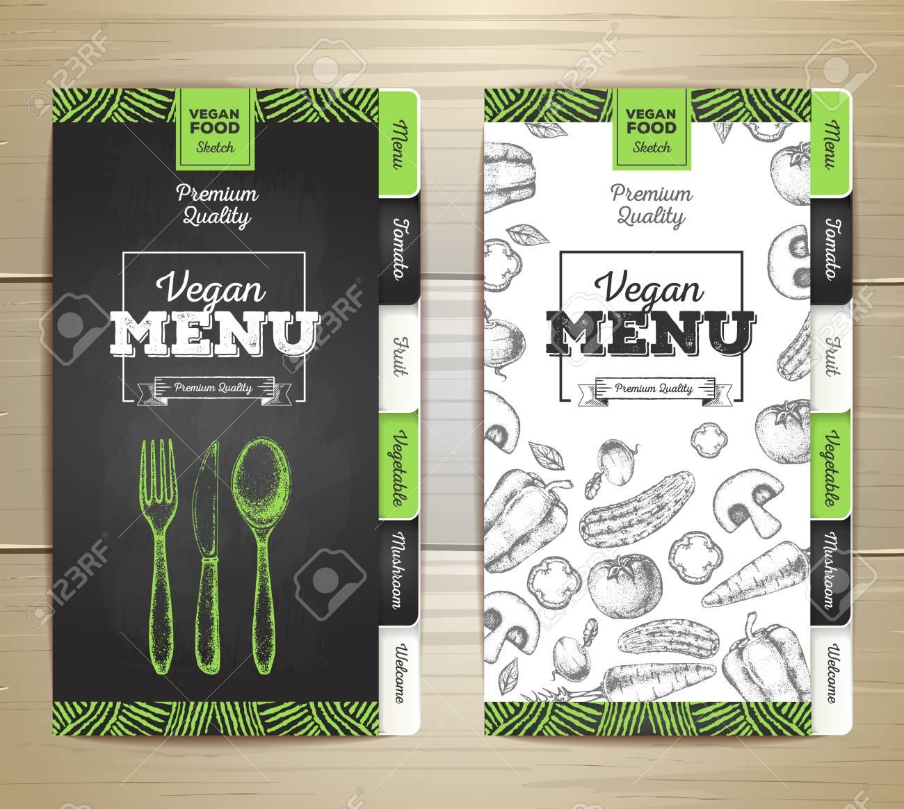 1300x1164 Vintage Chalk Drawing Vegetarian Menu Design. Corporate Identity