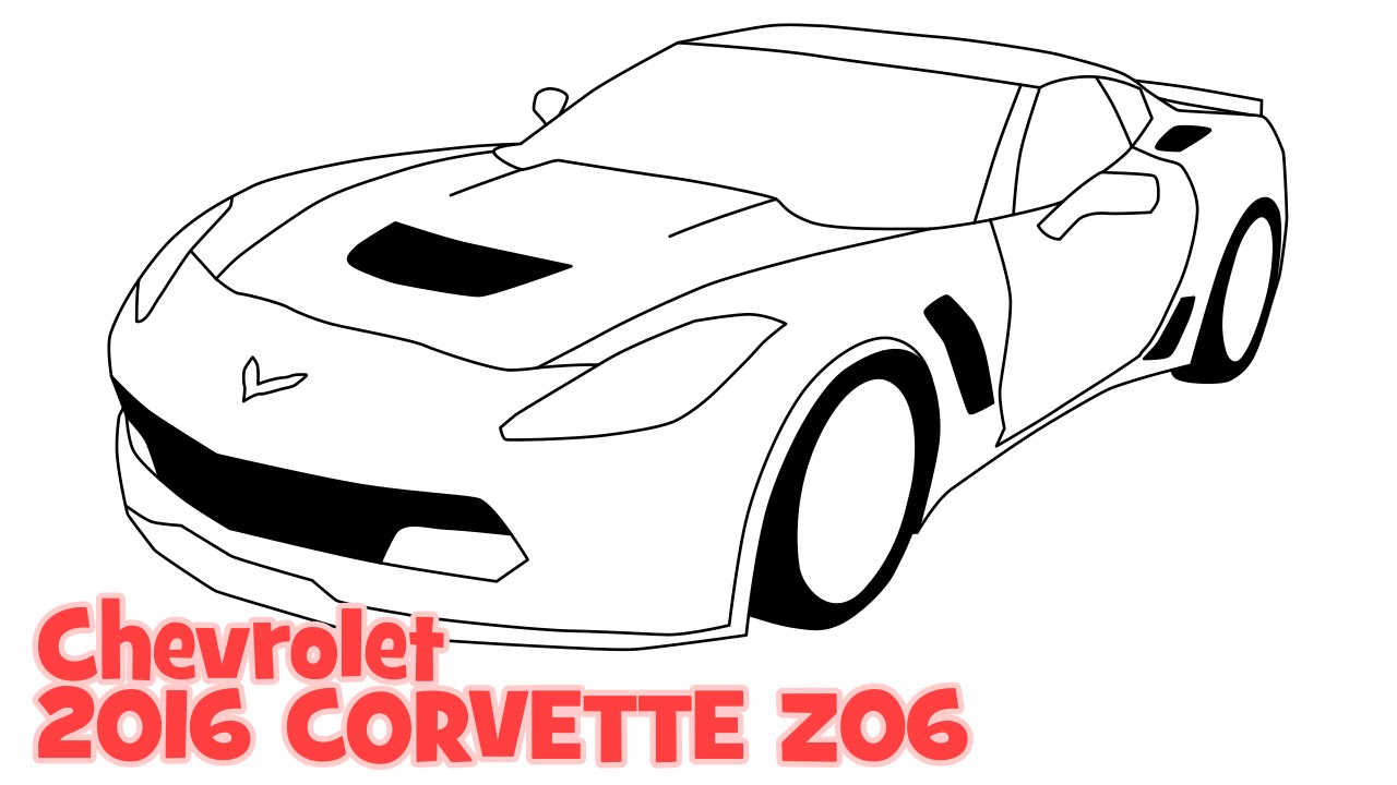 Corvette    Drawing    at GetDrawings   Free for personal