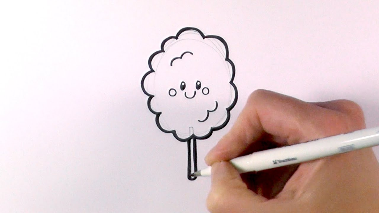 1280x720 How To Draw Cartoon Candy Flosscotton Candy