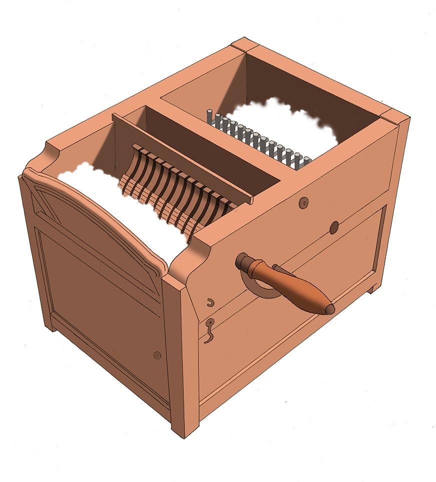 It is a photo of Witty Cotton Gin Easy Drawing