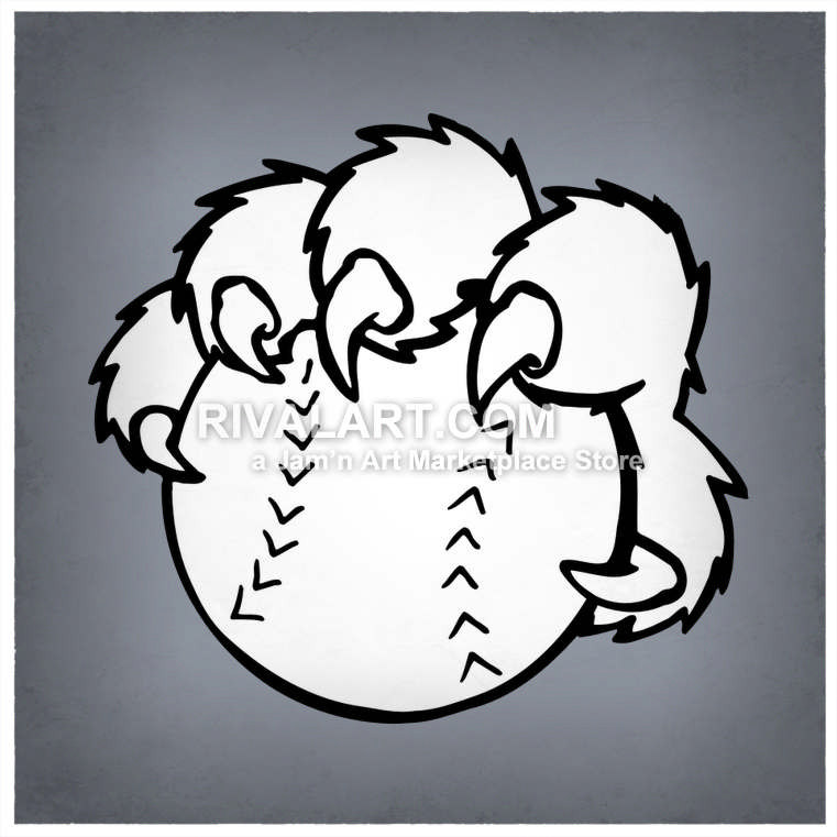 761x761 Cougar Paw Holding A Baseball Or Softball