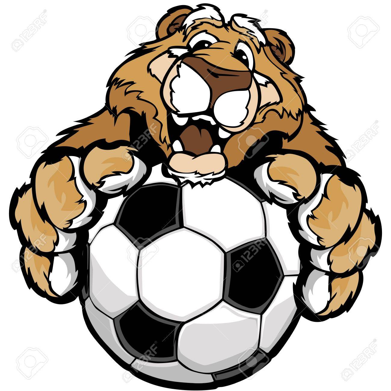 1300x1300 Graphic Mascot Image Of A Friendly Cougar Or Mountain Lion