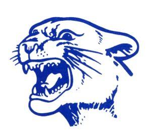 300x267 White Cougar Paw Swoosh On Royal Blue Tye Dye Sweatshirt