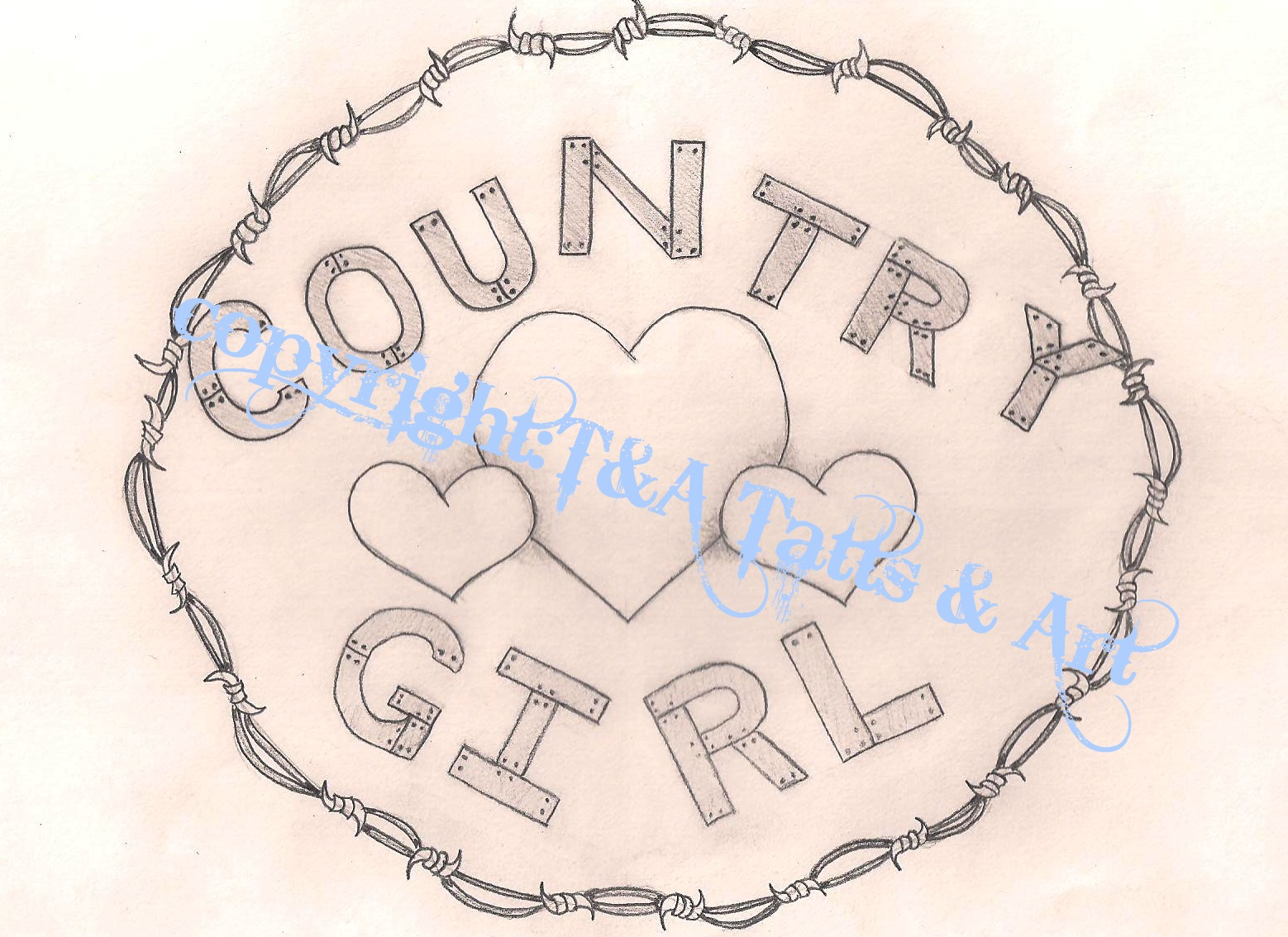 1558x1134 Country Girl Tattoo Drawing