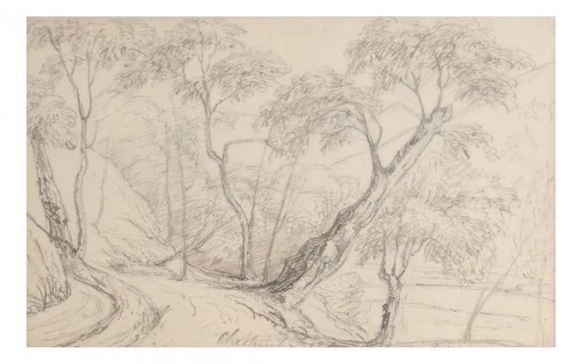 650x407 Pencil Drawing Country Road By J.m.w. Turner On Artnet