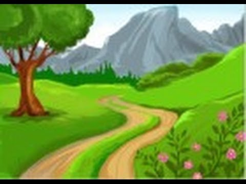 480x360 How To Draw Countryside Hills