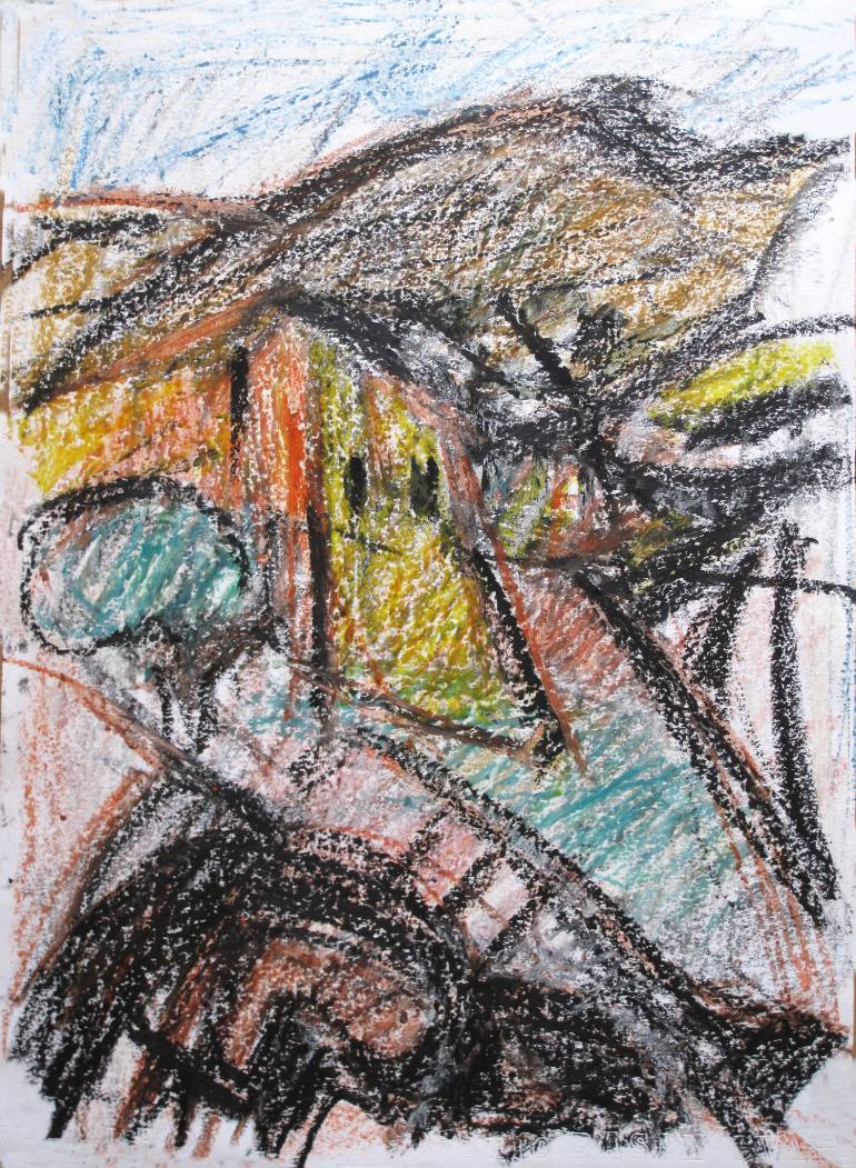 770x1051 Saatchi Art House And Tree In The Countryside Drawing By
