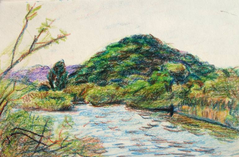 770x505 Saatchi Art Landscape Italian Landscape, Swamp, Reed Plants