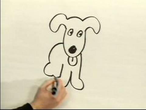 480x360 Easy Cartoon Drawing How To Draw A Cartoon Dog