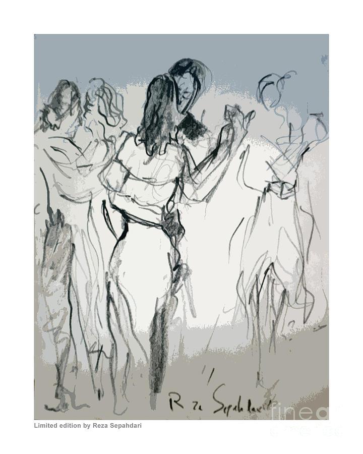 720x900 Slow Dancing Drawing By Reza Sepahdari