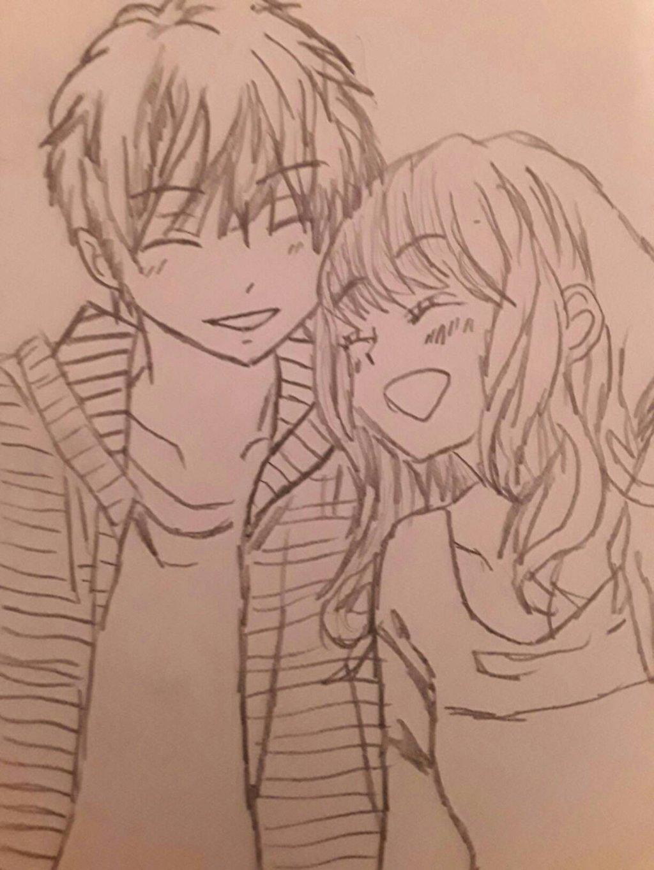 1024x1365 Cartoon Couple Drawing Anime Couple Drawing
