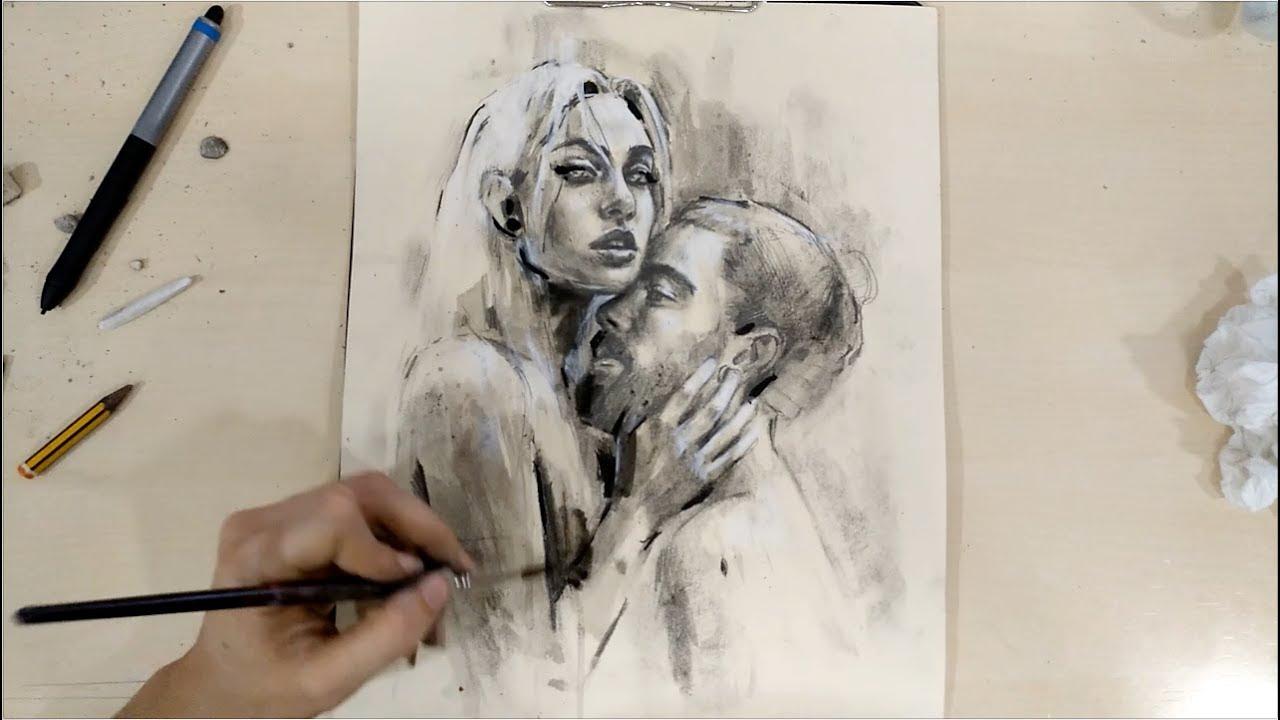 1280x720 Couple Drawing Process