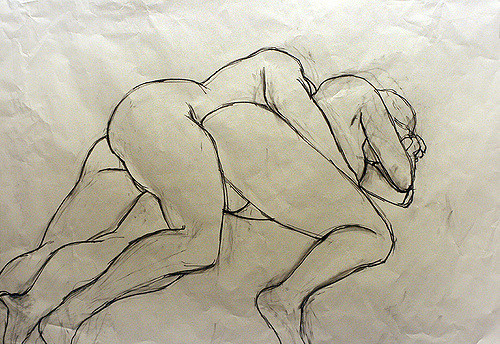 500x344 Life Drawing Couple By Philip London Life Drawing