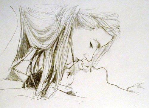 500x361 Love Sad Cute Couple Drawing On We Heart It